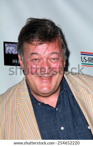LOS ANGELES - FEB 19:  Stephen Fry at the Oscar Wilde US-Ireland Pre-Academy Awards Event at a Bad Robot on February 19, 2015 in Santa Monica, CA - stock photo