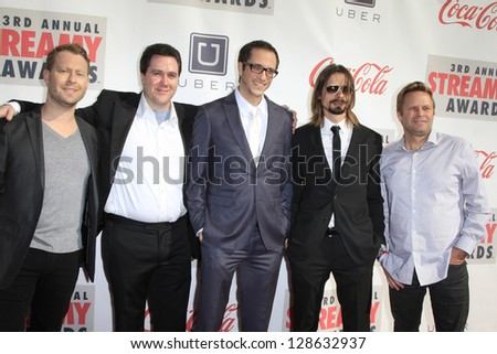 LOS ANGELES - FEB 17: Stewart Hendler, Jason Taylor, John Cabrerea, Cosimo De Tommaso, Lance Sloane of H+ The Digital Series at the 3rd Annual Streamy Awards on February 17, 2013 in Los Angeles, CA