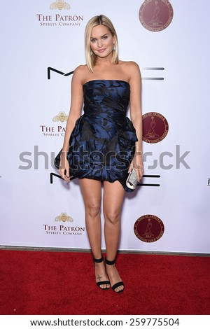 LOS ANGELES - FEB 14:  Sunny Mabrey arrives to the Make-Up Artists & Hair Stylists Guild Awards 2015  on February 14, 2015 in Hollywood, CA                 - stock photo