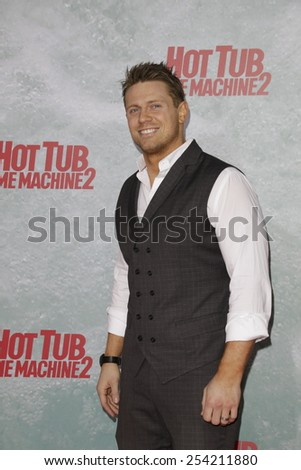 LOS ANGELES - FEB 18: The Miz at the 'Hot Tub Time Machine 2' premiere on February 18, 2014 in Los Angeles, California - stock photo