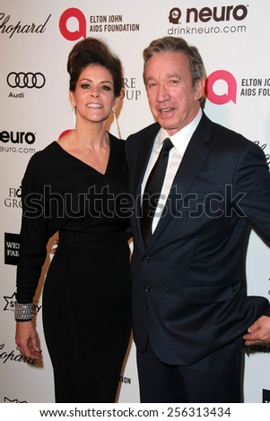 LOS ANGELES - FEB 22:  Tim Allen at the Elton John Oscar Party 2015 at the City Of West Hollywood Park on February 22, 2015 in West Hollywood, CA - stock photo