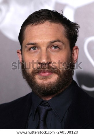 "LOS ANGELES - FEB 08:  TOM HARDY arrives to the ""This Means War"" Los Angeles Premiere  on February 08, 2012 in Hollywood, CA"