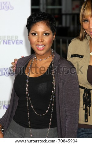 "LOS ANGELES - FEB 8:  Toni Braxton arrives at the ""Never Say Never"" Premiere at Nokia Theater  on February 8, 2011 in Los Angeles, CA"