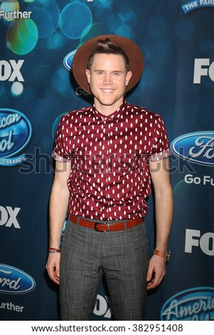 LOS ANGELES - FEB 25:  Trent Harmon at the American Idol Farewell Season Finalists Party at the London Hotel on February 25, 2016 in West Hollywood, CA - stock photo