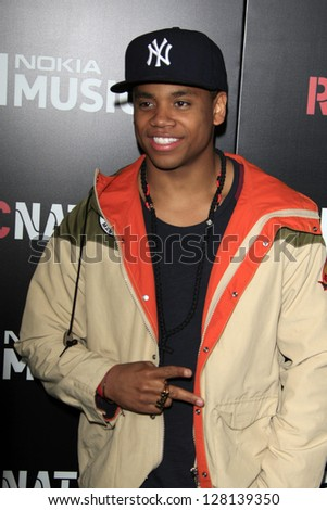 LOS ANGELES - FEB 9:  Tristan Wilds arrives at the ROC NATION Annual Pre-Grammy Brunch at the Soho House on February 9, 2013 in West Hollywood, CA - stock photo