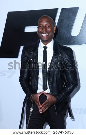 "LOS ANGELES - FEB 1:  Tyrese Gibson at the ""Avengers; Age Of Ultron"" Los Angeles Premiere at the TCL Chinese Theater on April 1, 2015 in Los Angeles, CA"