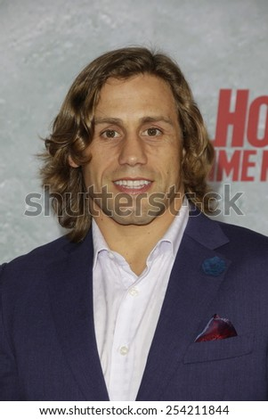 LOS ANGELES - FEB 18: Urijah Faber at the 'Hot Tub Time Machine 2' premiere on February 18, 2014 in Los Angeles, California - stock photo