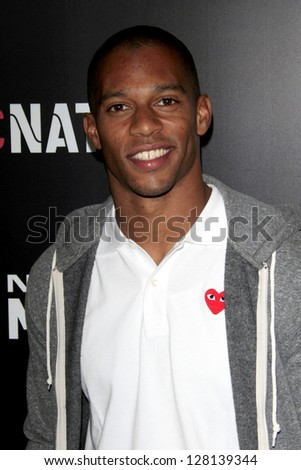 LOS ANGELES - FEB 9:  Victor Cruz arrives at the ROC NATION Annual Pre-Grammy Brunch at the Soho House on February 9, 2013 in West Hollywood, CA - stock photo