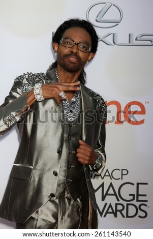 LOS ANGELES - FEB 6:  Wendell James at the 46th NAACP Image Awards Arrivals at a Pasadena Convention Center on February 6, 2015 in Pasadena, CA - stock photo
