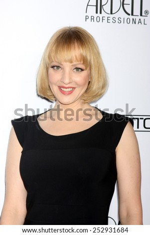 LOS ANGELES - FEB 14:  Wendi McLendon-Covey at the 2015 Make-up and Hair Stylists Guild Awards at a Paramount Theater on February 14, 2015 in Los Angeles, CA - stock photo