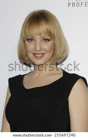 LOS ANGELES - FEB 14: Wendi McLendon-Covey at the Make-Up Artists & Hair Stylists Guild Awards at the Paramount Theater on February 14, 2015 in Los Angeles, CA - stock photo