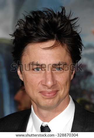 LOS ANGELES - FEB 13 - Zach Braff arrives at the Oz The Great and Powerful World Premiere on February 13, 2013 in Los Angeles, CA              - stock photo
