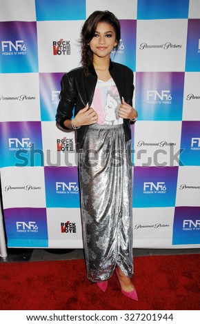 LOS ANGELES - FEB 8 - Zendaya Coleman arrives at the 16th Annual Friends N Family Pre Grammy Party on February 8, 2013 in Los Angeles, CA              - stock photo