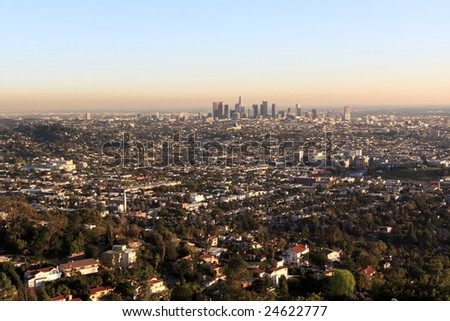 Los Angeles is the largest city in the state of California - stock photo