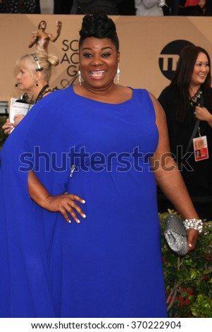 LOS ANGELES - JAN 30:  Adrienne C. Moore at the 22nd Screen Actors Guild Awards at the Shrine Auditorium on January 30, 2016 in Los Angeles, CA - stock photo
