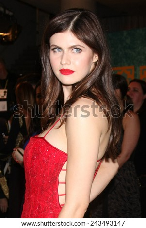 LOS ANGELES - JAN 11:  Alexandra Daddario at the HBO Post Golden Globe Party at a Circa 55, Beverly Hilton Hotel on January 11, 2015 in Beverly Hills, CA