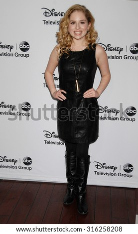 LOS ANGELES - JAN 10 - Allie Grant arrives at the 2013 Disney ABC Television Group TCA Winter Press Tour   on January 10, 2013 in Pasadena, CA