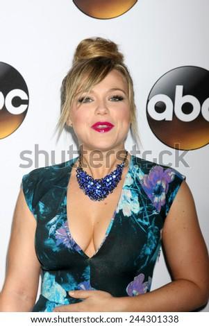 LOS ANGELES - JAN 14:  Amanda Fuller at the ABC TCA Winter 2015 at a The Langham Huntington Hotel on January 14, 2015 in Pasadena, CA - stock photo