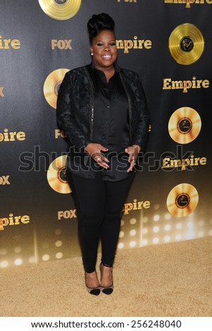 "LOS ANGELES - JAN 06:  Amber Riley arrives to the ""Empire"" Los Angeles Premiere  on January 6, 2015 in Hollywood, CA                 - stock photo"