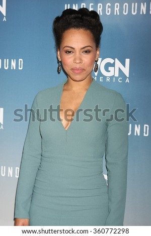 LOS ANGELES - JAN 8:  Amirah Vann at the Underground WGN Winter 2016 TCA Photo Call at the The Langham Huntington Hotel on January 8, 2016 in Pasadena, CA