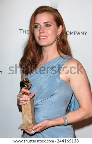 LOS ANGELES - JAN 11:  Amy Adams at the The Weinstein Company / Netflix Golden Globes After Party at a Beverly Hilton Adjacent on January 11, 2015 in Beverly Hills, CA - stock photo