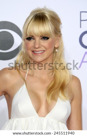 LOS ANGELES - JAN 7: Anna Faris at the 2015 People's Choice Awards at Nokia Theater L.A. Live on January 7, 2015 in Los Angeles, California - stock photo