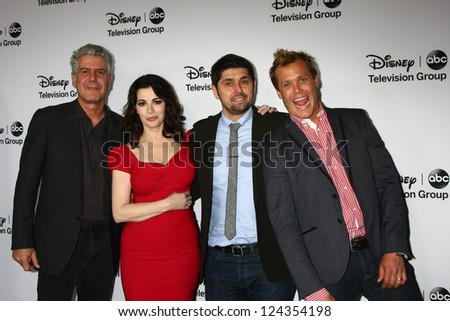 LOS ANGELES - JAN 10:  Anthony Bourdain, Nigella Lawson, Ludo Lefebvre, Brian Malarkey attends the ABC TCA Winter 2013 Party at Langham Huntington Hotel on January 10, 2013 in Pasadena, CA