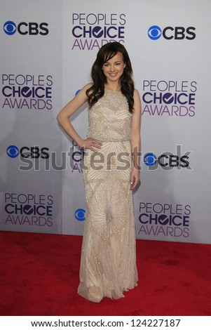 LOS ANGELES - JAN 9: Ashley Rickards at the 39th Annual People's Choice Awards at Nokia Theater L.A. Live on January 9, 2013 in Los Angeles, California