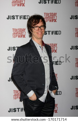 "LOS ANGELES - JAN 6:  Ben Folds at the ""Justified"" Premiere Screening at Directors Guild of America on January 6, 2014 in Los Angeles, CA"