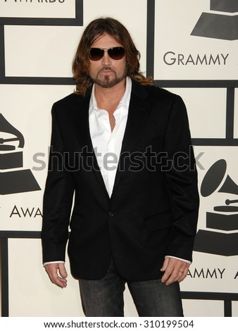 LOS ANGELES - JAN 26:  Billy Ray Cyrus arrives at the 56th Annual Grammy Awards Arrivals  on January 26, 2014 in Los Angeles, CA                 - stock photo