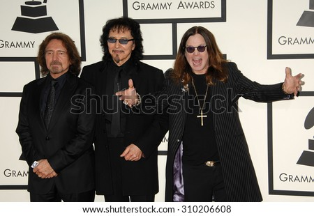 LOS ANGELES - JAN 26:  Black Sabbath, Ozzy Osbourne arrives at the 56th Annual Grammy Awards Arrivals  on January 26, 2014 in Los Angeles, CA                 - stock photo