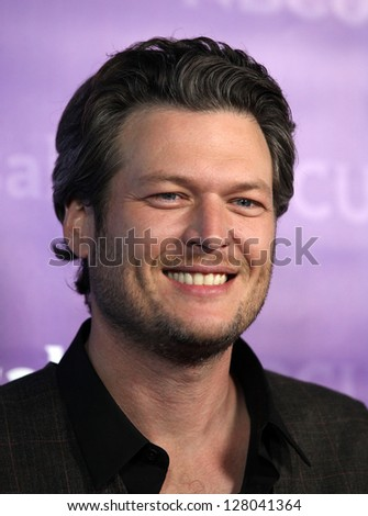 LOS ANGELES - JAN 06:  BLAKE SHELTON arriving to TCA Winter Press Tour 2012: NBC Party  on January 06, 2012 in Pasadena, CA
