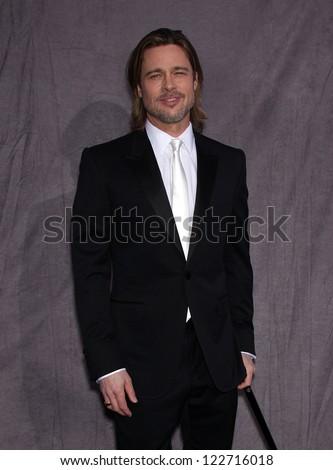 LOS ANGELES - JAN 12:  BRAD PITT arriving to Critic's Choice Movie Awards 2012  on January 12, 2012 in Hollywood, CA - stock photo