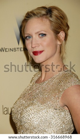 LOS ANGELES - JAN 13 - Brittany Snow arrives at the 2013 Weinstein Company Golden Globes After Party  on January 13, 2013 in Beverly Hills, CA              - stock photo