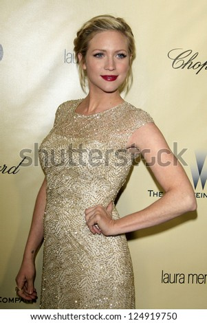 LOS ANGELES - JAN 13:  Brittany Snow arrives at the 2013 Weinstein Post Golden Globe Party at Beverly Hilton Hotel on January 13, 2013 in Beverly Hills, CA.. - stock photo