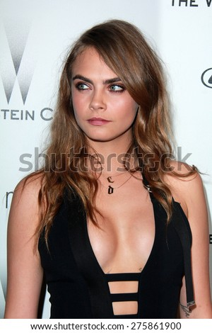 LOS ANGELES - JAN 11:  Cara Delevingne at the The Weinstein Company / Netflix Golden Globes After Party at a Beverly Hilton Adjacent on January 11, 2015 in Beverly Hills, CA - stock photo