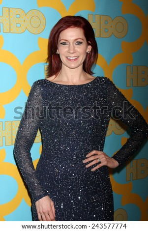LOS ANGELES - JAN 11:  Carrie Preston at the HBO Post Golden Globe Party at a Circa 55, Beverly Hilton Hotel on January 11, 2015 in Beverly Hills, CA