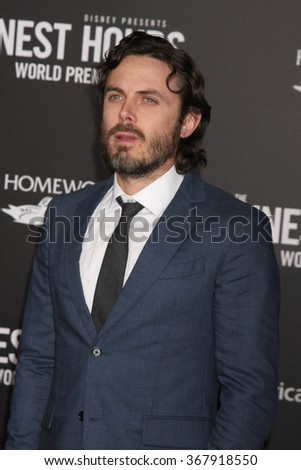 LOS ANGELES - JAN 25:  Casey Affleck at the The Finest Hours World Premiere at the TCL Chinese Theater IMAX on January 25, 2016 in Los Angeles, CA