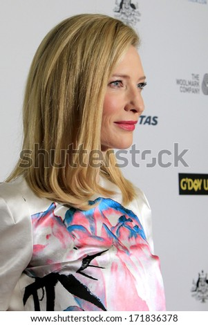 LOS ANGELES - JAN 11:  Cate Blanchett at the  2014 G'Day USA Los Angeles Black Tie Gala at JW Marriott Hotel at L.A. LIVE on January 11, 2014 in Los Angeles, CA