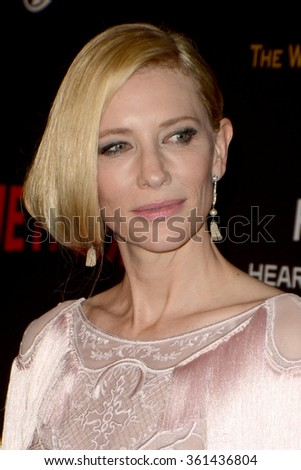 LOS ANGELES - JAN 10:  Cate Blanchett at the Weinstein Company & Netflix 2016 Golden Globe After Party at the Beverly Hilton on January 10, 2016 in Beverly Hills, CA - stock photo