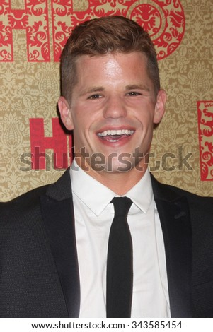 LOS ANGELES - JAN 12:  Charlie Carver at the HBO 2014 Golden Globe Party at the Beverly Hilton Hotel on January 12, 2014 in Beverly Hills, CA - stock photo