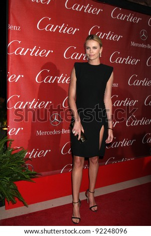 LOS ANGELES - JAN 7:  Charlize Theron arrives at the 2012 Palm Springs International Film Festival Gala at Palm Springs Convention Center on January 7, 2012 in Palm Springs, CA