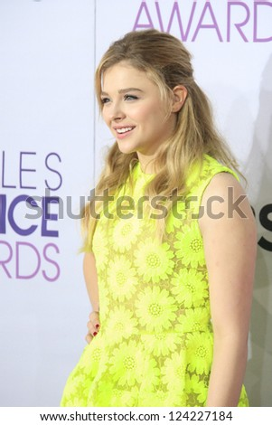 LOS ANGELES - JAN 9: Chloe Grace Moretz at the 39th Annual People's Choice Awards at Nokia Theater L.A. Live on January 9, 2013 in Los Angeles, California