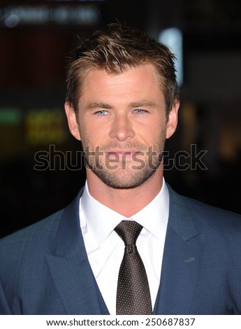 "LOS ANGELES - JAN 08:  Chris Hemsworth arrives to the ""Blackhat"" Los Angeles Premiere  on January 8, 2015 in Hollywood, CA"