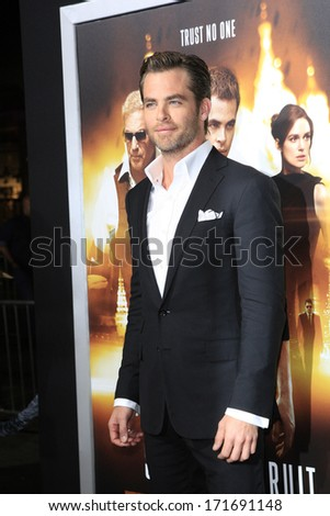 LOS ANGELES - JAN 15: Chris Pine at the premiere of Paramount Pictures' 'Jack Ryan: Shadow Recruit' at TCL Chinese Theater on January 15, 2014 in Los Angeles, CA - stock photo