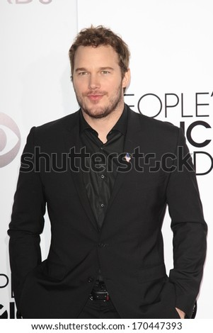 LOS ANGELES - JAN 8:  Chris Pratt at the People's Choice Awards 2014 Arrivals at Nokia Theater at LA LIve on January 8, 2014 in Los Angeles, CA