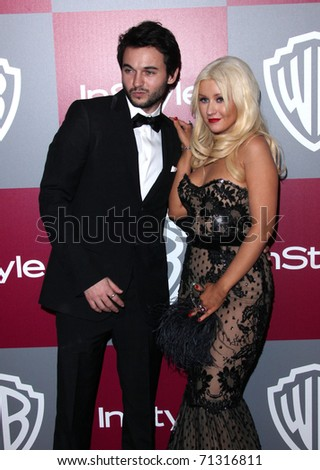 LOS ANGELES - JAN 16:  Christina Aguilera arrives to the 12th Annual WB-In Style Golden Globe After Party  on January 16, 2011 in Beverly Hills CA