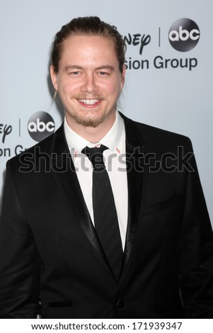 LOS ANGELES - JAN 17:  Christoph Sanders at the Disney-ABC Television Group 2014 Winter Press Tour Party Arrivals at The Langham Huntington on January 17, 2014 in Pasadena, CA