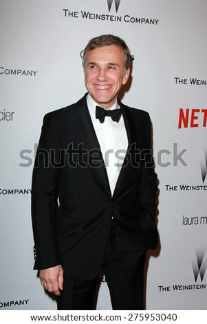 LOS ANGELES - JAN 11:  Christoph Waltz at the The Weinstein Company / Netflix Golden Globes After Party at a Beverly Hilton Adjacent on January 11, 2015 in Beverly Hills, CA - stock photo