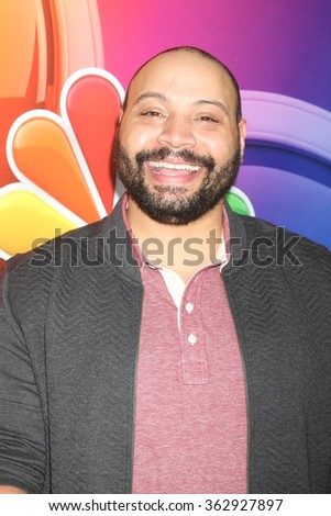 LOS ANGELES - JAN 13:  Colton Dunn at the NBCUniversal TCA Press Day Winter 2016 at the Langham Huntington Hotel on January 13, 2016 in Pasadena, CA